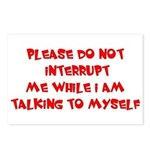 Talking To Myself Postcards (Package of 8)