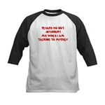 Talking To Myself Kids Baseball Jersey