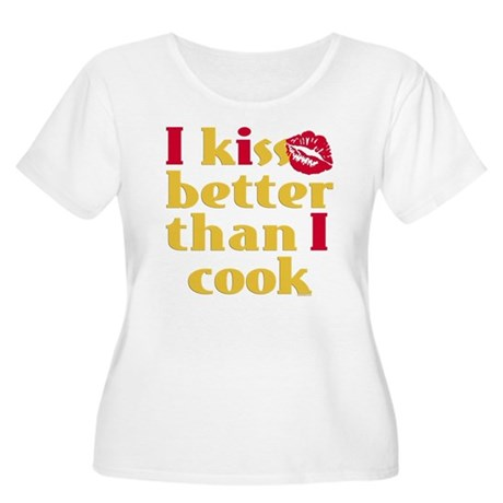 Kiss Better Than Cook Women's Plus Size Scoop Neck