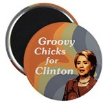 Groovy Chicks for Clinton Magnet