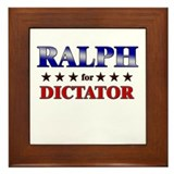 RALPH for dictator Framed Tile