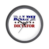 RALPH for dictator Wall Clock
