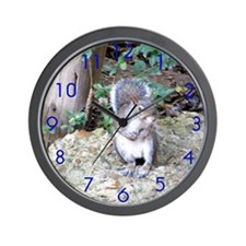 Squirrel on Rock Wall Clock