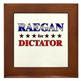 RAEGAN for dictator Framed Tile