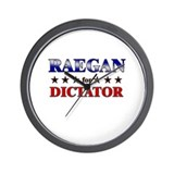 RAEGAN for dictator Wall Clock