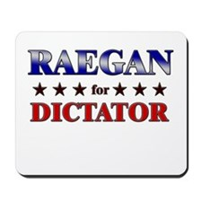 RAEGAN for dictator Mousepad