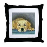 Time Out Yellow Lab Pup Throw Pillow