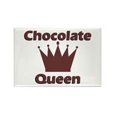 Chocolate Queen Rectangle Magnet