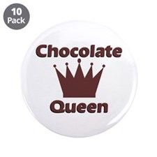 "Chocolate Queen 3.5"" Button (10 pack)"