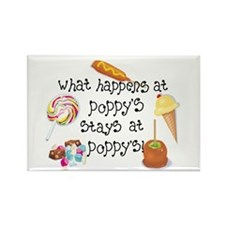 What Happens at Poppy's... Rectangle Magnet (100 p