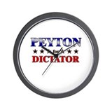 PEYTON for dictator Wall Clock