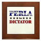 PERLA for dictator Framed Tile
