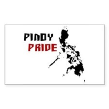 Pinoy Pride - back Rectangle Decal