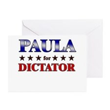 PAULA for dictator Greeting Cards (Pk of 20)