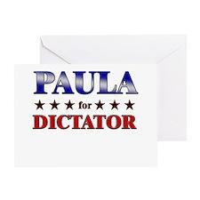 PAULA for dictator Greeting Card