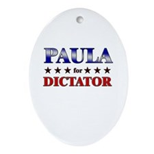 PAULA for dictator Oval Ornament