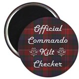 Official Commando Kilt Checker Magnet