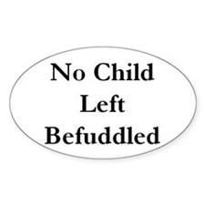 Befuddled Oval Decal