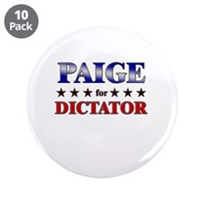 "PAIGE for dictator 3.5"" Button (10 pack)"
