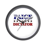 PAIGE for dictator Wall Clock