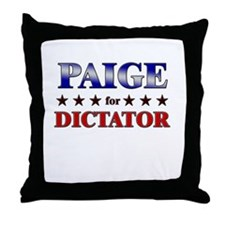 PAIGE for dictator Throw Pillow