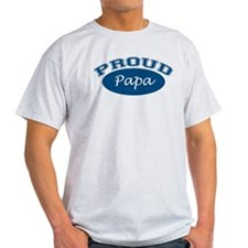 Proud Papa (blue) T-Shirt