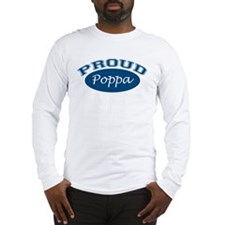 Proud Poppa (blue) Long Sleeve T-Shirt