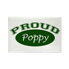 Proud Poppy (green) Rectangle Magnet (10 pack)