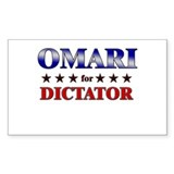 OMARI for dictator Rectangle Decal