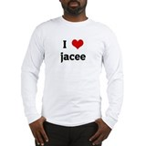 I Love jacee Long Sleeve T-Shirt