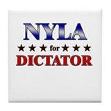 NYLA for dictator Tile Coaster