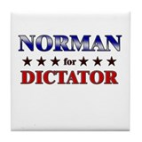 NORMAN for dictator Tile Coaster