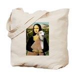 Mona / Greyhound (f) Tote Bag