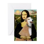 Mona / Greyhound (f) Greeting Cards (Pk of 10)