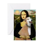 Mona / Greyhound (f) Greeting Card