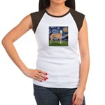 Starry / Greyhound (f) Women's Cap Sleeve T-Shirt