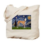 Starry / Greyhound (f) Tote Bag