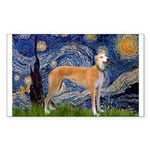 Starry / Greyhound (f) Sticker (Rectangle)