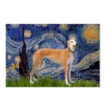 Starry / Greyhound (f) Postcards (Package of 8)