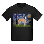 Starry / Greyhound (f) Kids Dark T-Shirt