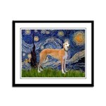 Starry / Greyhound (f) Framed Panel Print