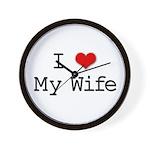 I Heart My Wife Wall Clock