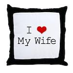 I Heart My Wife Throw Pillow