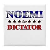 NOEMI for dictator Tile Coaster