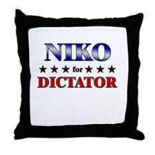 NIKO for dictator Throw Pillow