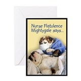 Nurse Mightygale Greeting Card