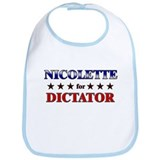 NICOLETTE for dictator Bib