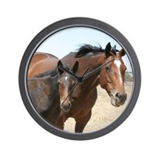 Funny Thoroughbred pony Wall Clock