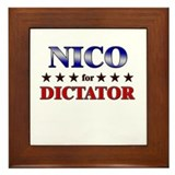 NICO for dictator Framed Tile