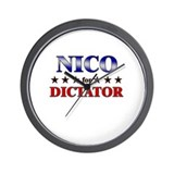 NICO for dictator Wall Clock